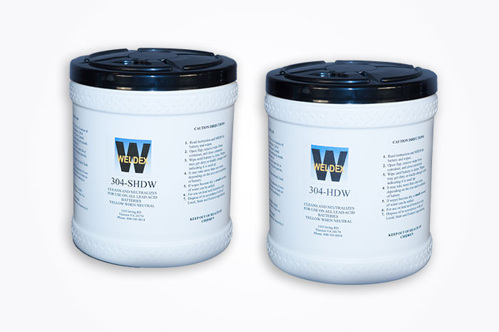 HEAVY DUTY BATTERY CLEANING WIPES